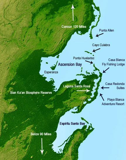 Casa Blanca & Playa Blanca map